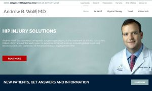 Andrew Wolff MD website by Buzzquake Marketing