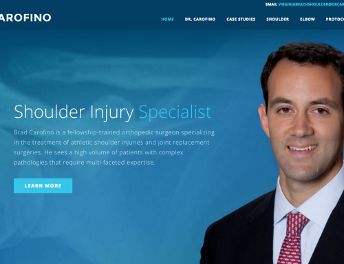 Orthopedic surgeon launches new website with mega menus to make practice more efficient